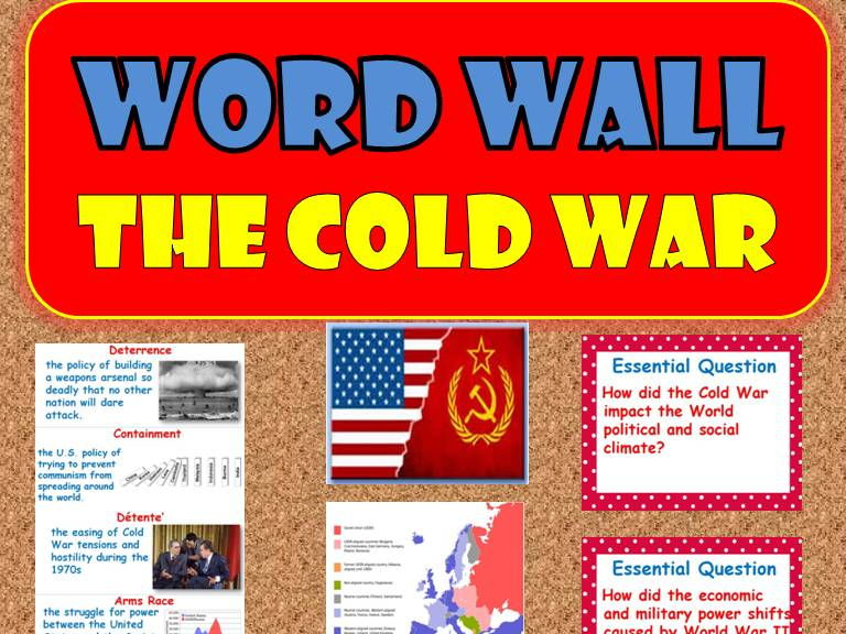 the cold war word wall posters  world history  by