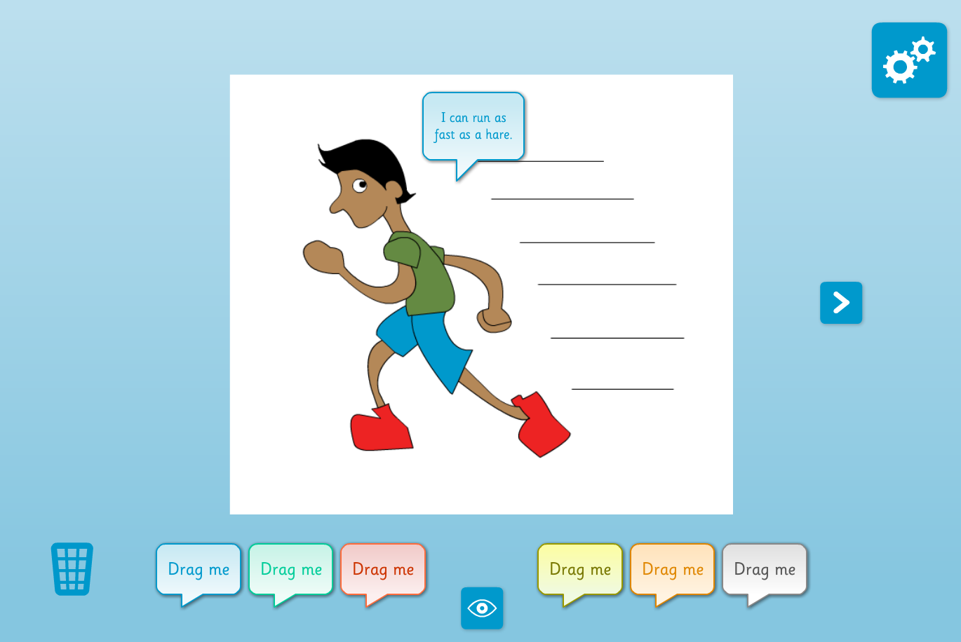 Similes Interactive Activity - KS2 Literacy