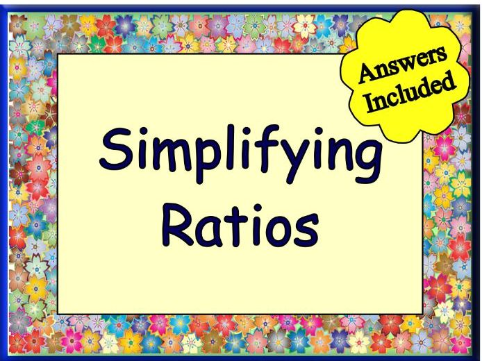 Simplifying Ratios