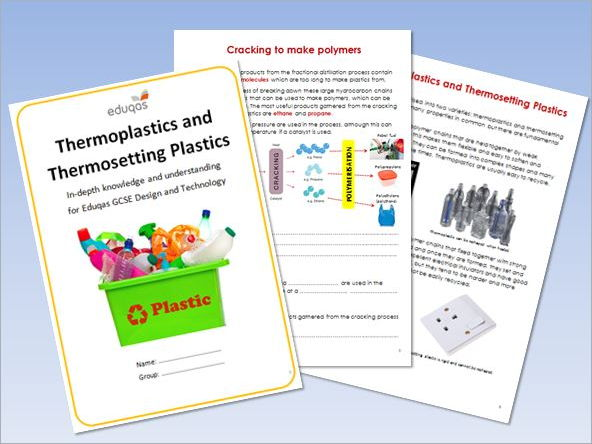 Thermoplastics and Thermosetting Plastics Workbook (15 page colour workbook)