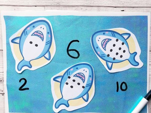 Count the spots 0-10 Sharks