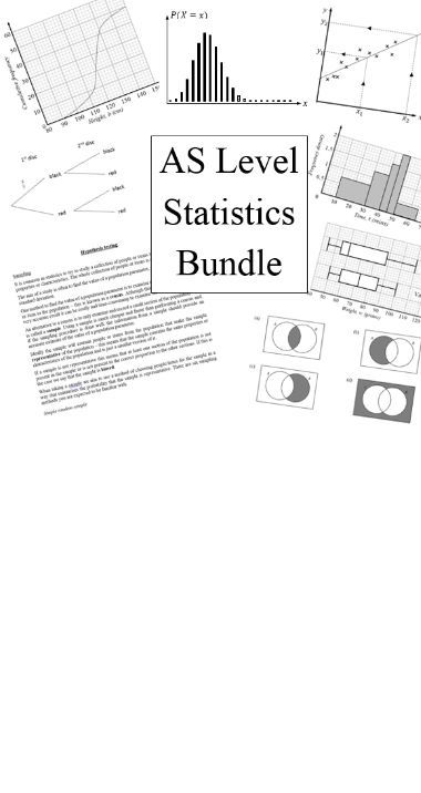 AS level statistics bundle for new A level