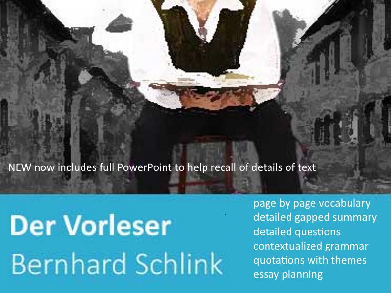 Der Vorleser  Bernhard Schlink advanced level German