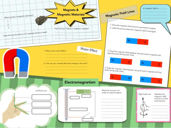 Magnetism & Electromagnetism Revision Mat / Knowledge Organiser