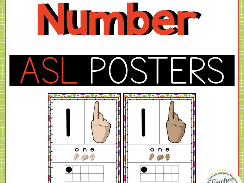 American Sign Language Number Posters