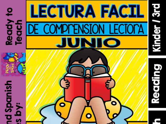 Easy Reading for Reading Comprehension in Spanish - June Set