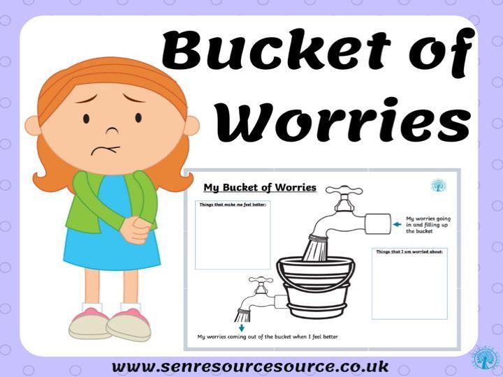 My Bucket of Worries Worksheet