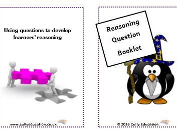 Develop Numerical Reasoning through Questioning - Pocket-sized Booklets & Speech Bubbles  Reception