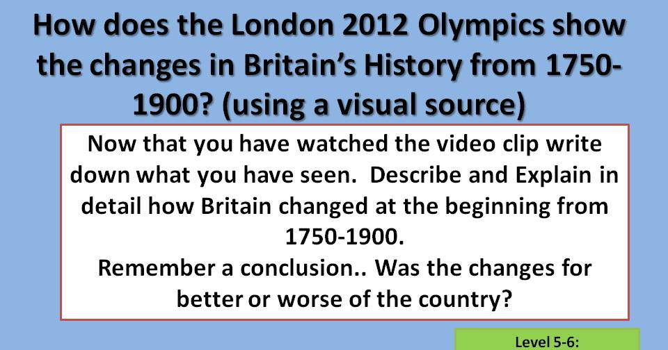 Industrial Revolution Based on Olympics 2012