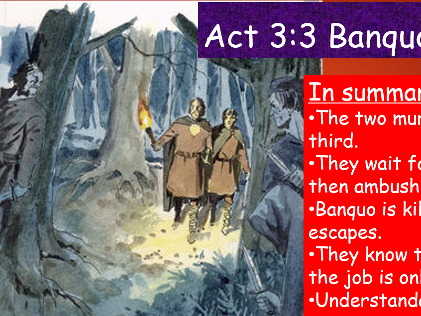 KS4 GCSE Macbeth Act 3 Scene 3