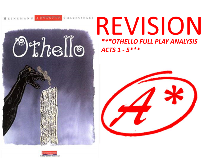 OTHELLO BY SHAKESPEARE FULL PLAY ANALYSIS ACTS 1 - 5 WITH QUOTES!