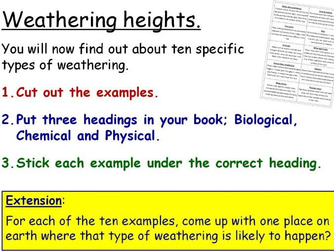 Weathering and Erosion Year 8 Lesson PowerPoint (KS3 8Hc) Rocks and the Earth Topic