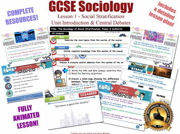 Introduction & Central Debates -  Social Stratification -  [AQA GCSE Sociology - 8192] Power L1/20