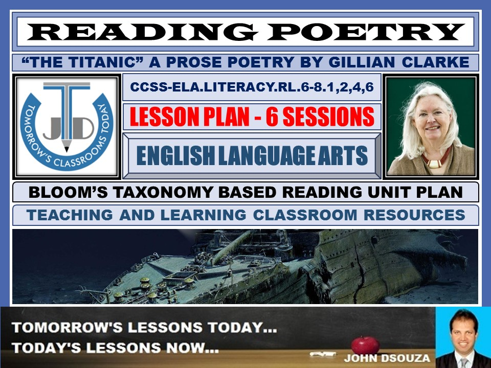 READING POETRY: TITANIC - UNIT LESSON PLANS AND RESOURCES