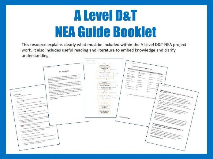 A Level D&T NEA Guide Booklet