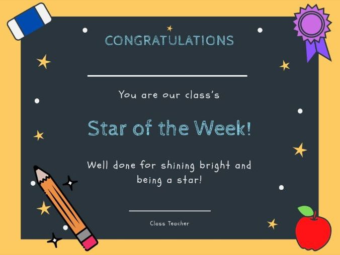 Star of the Week Certificates