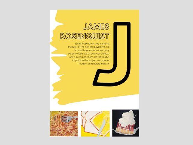Artist A to Z | J | James Rosenquist | Bread & spreads