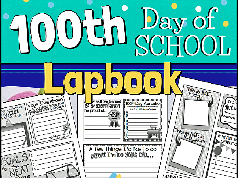 100th Day of School Lapbook