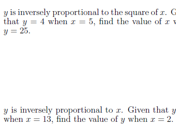Four worksheets on direct and inverse proportion (with solutions)