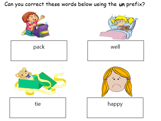 """Un"" Prefix - 4 Worksheets Differentiated"