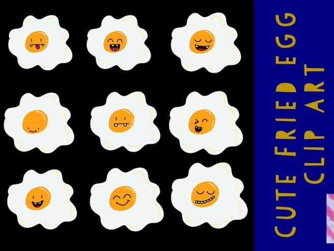 Cute Fried Egg Clip Art