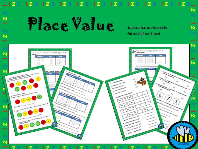 Year 3 Place Value Worksheets and Assessment