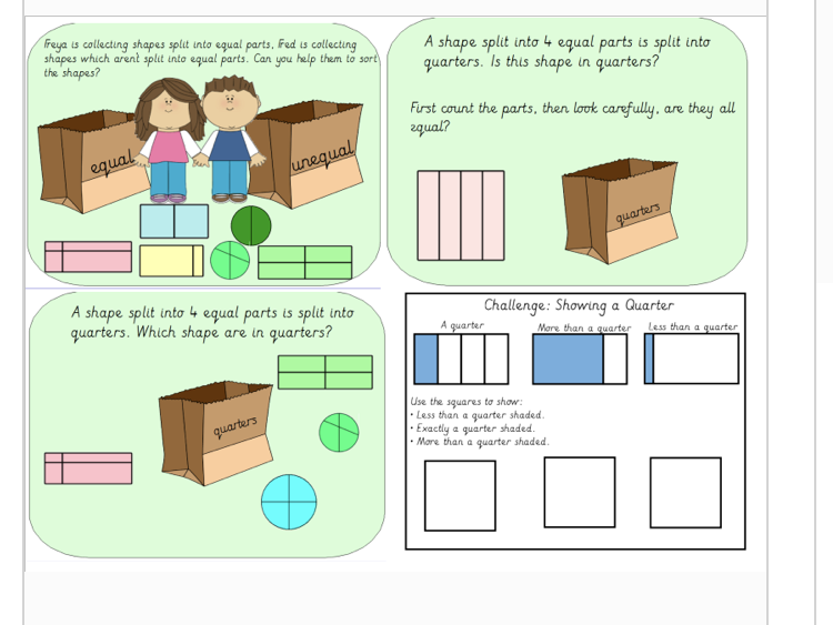 Year 1 Fractions Bundle Summer Block 2  (linked to White Rose Schemes)
