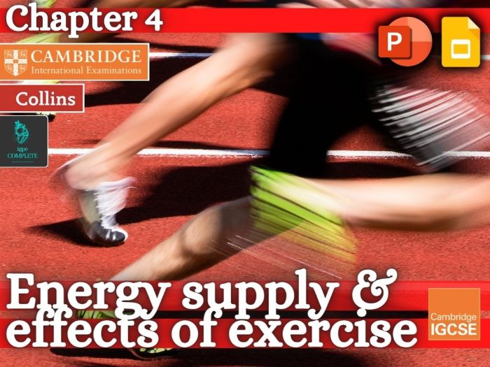 IGCSE / GCSE  PE - ENERGY SYSTEMS & RECOVERY - Anatomy and Physiology - full teaching resource