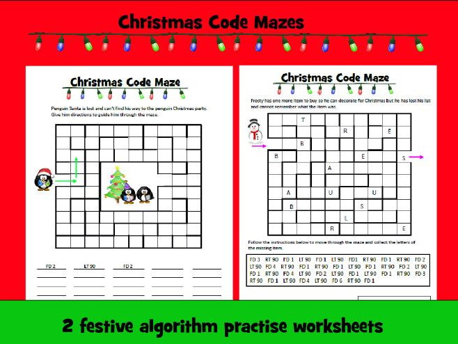 Christmas Code Mazes