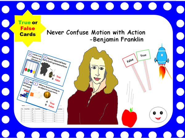 Force and Motion Concepts- True or False Activity