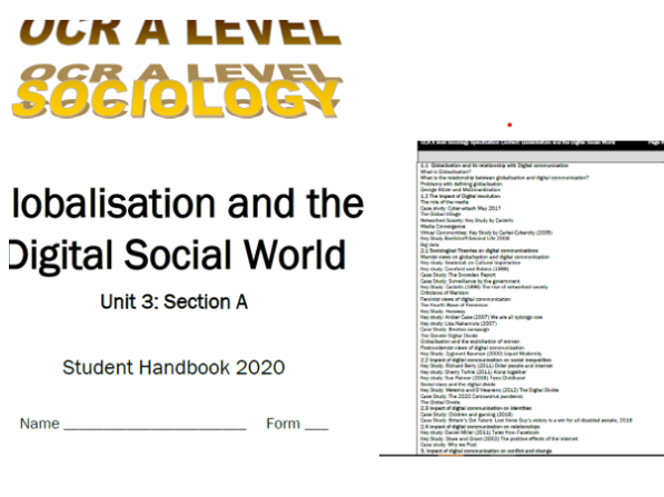 Globalisation and the Digital world booklet