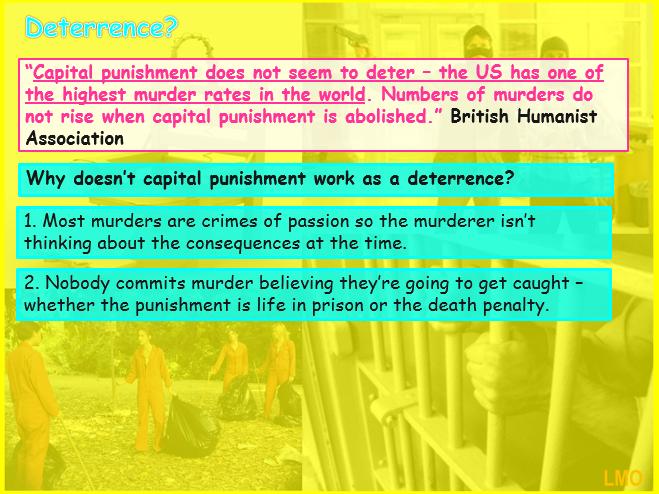 Edexcel GCSE Religious Studies B (2016): Crime and Punishment - Capital Punishment