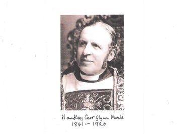 Handley Moule,  former Bishop of Durham  (1841-1920)