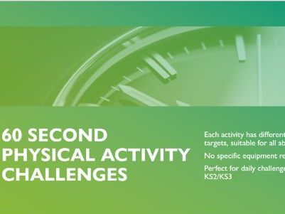 60 Second Daily Online Physical Activity Challenge Key Stage 2 Key Stage 3 KS2/KS3 Challenge 1-10 PE