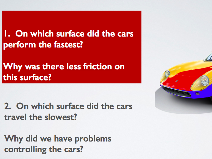 Investigating friction with a remote control car