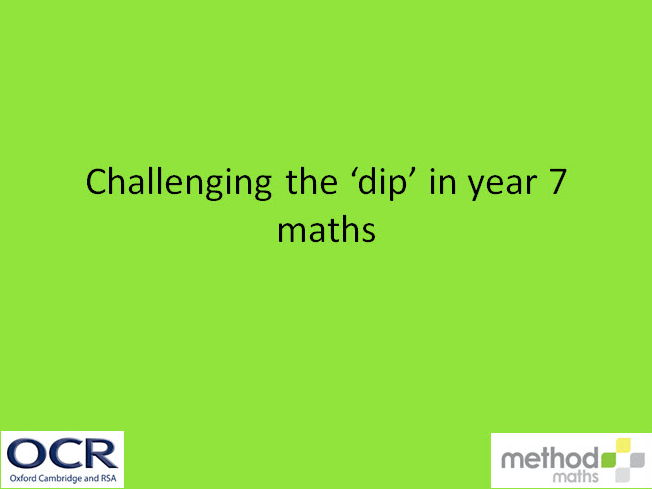 Some practical suggestions to support transition in maths
