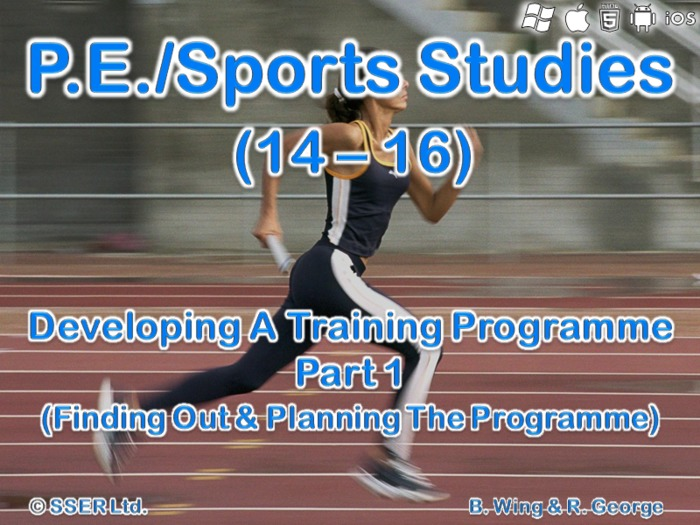 PE401ST - Developing a Training Programme - 1 (Finding out & Planning)