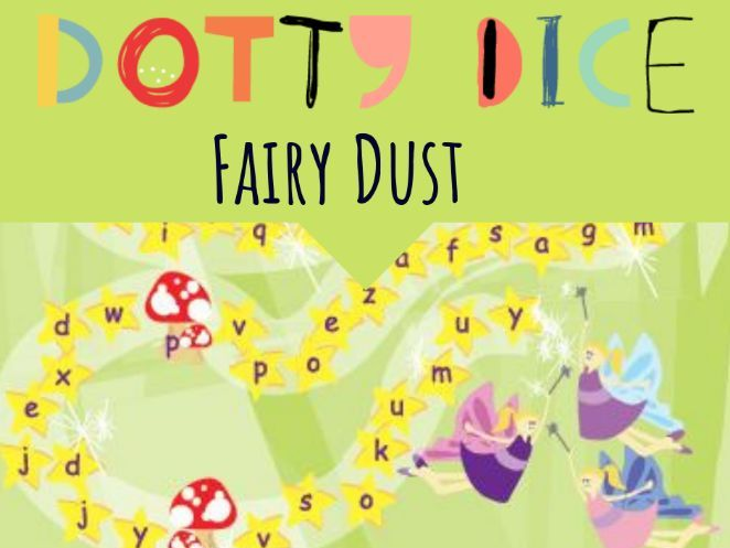 Literacy Board Game - Fairy Dust - Identifying vowels and consonants -