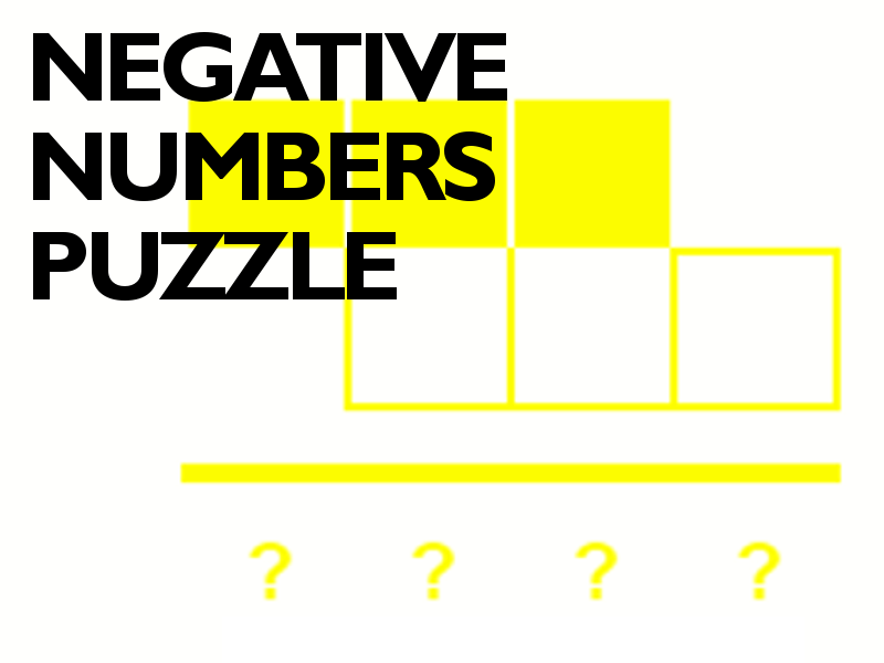 Negative Numbers Puzzle