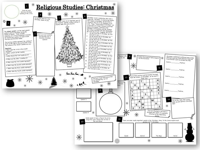 Christmas Activities: Religious Studies