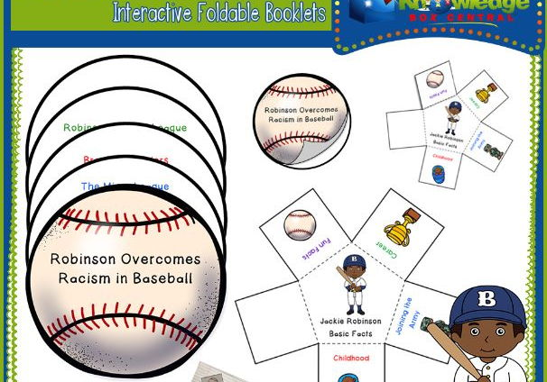 Jackie Robinson Black History Interactive Foldable Booklets