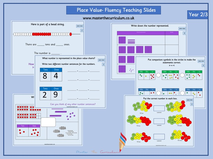 Mixed Year Group 2/3 Autumn Term- Block 1- Place Value Teaching Slides White Rose Style