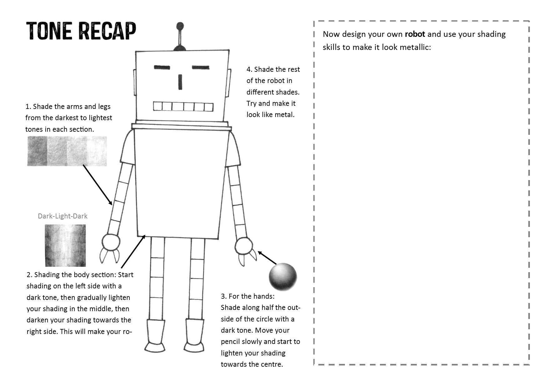 Robot Tone Worksheet