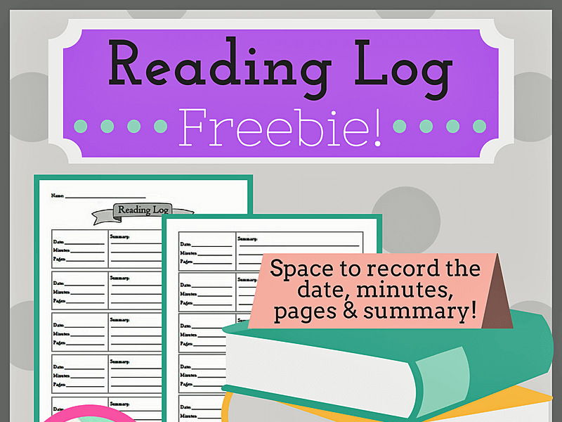 Reading Log for ALL Subjects-- FREEBIE!