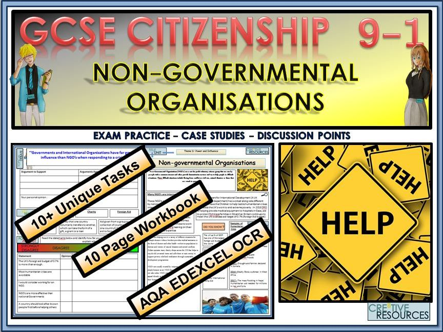 GCSE Citizenship  (9-1) Non-Government Organisations