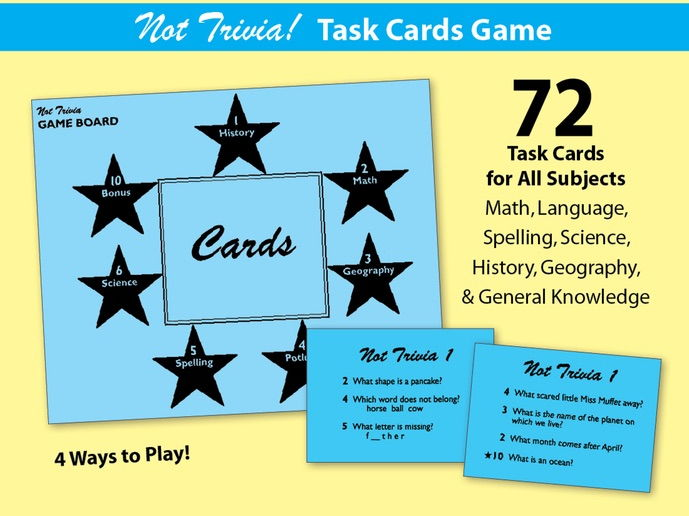 Not Trivia! Task Card Game for All Subjects - Grade 1