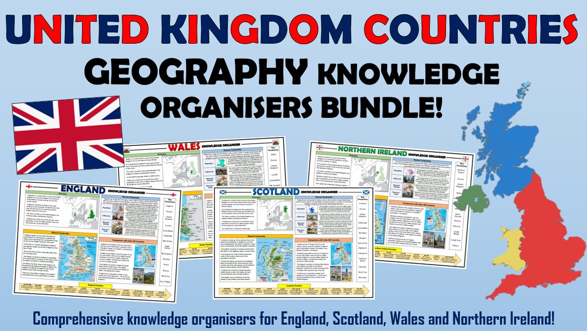 UK Countries Geography Knowledge Organisers Bundle!