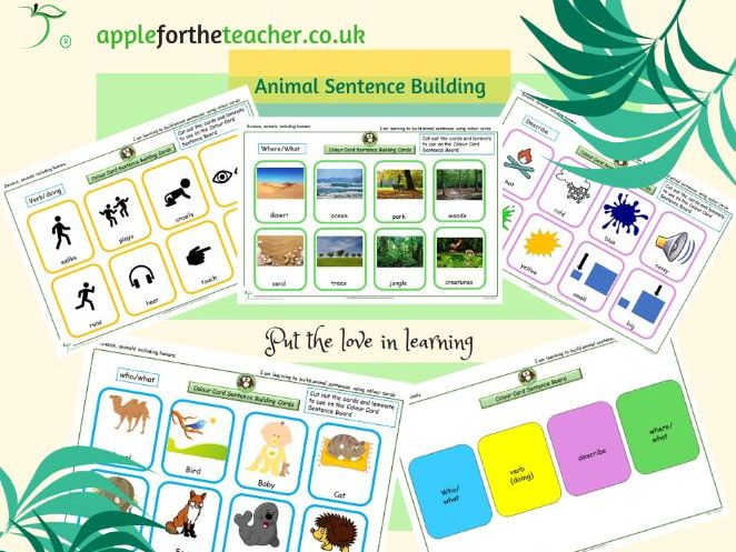 animal sentence building science EYFS KS1 SEN