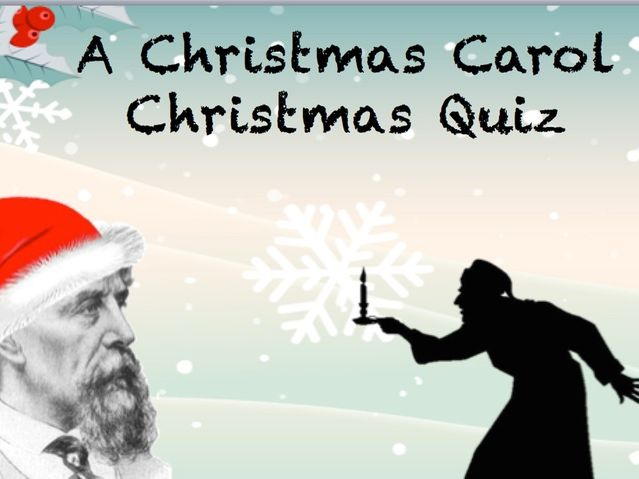 Christmas Quiz - A Christmas Carol