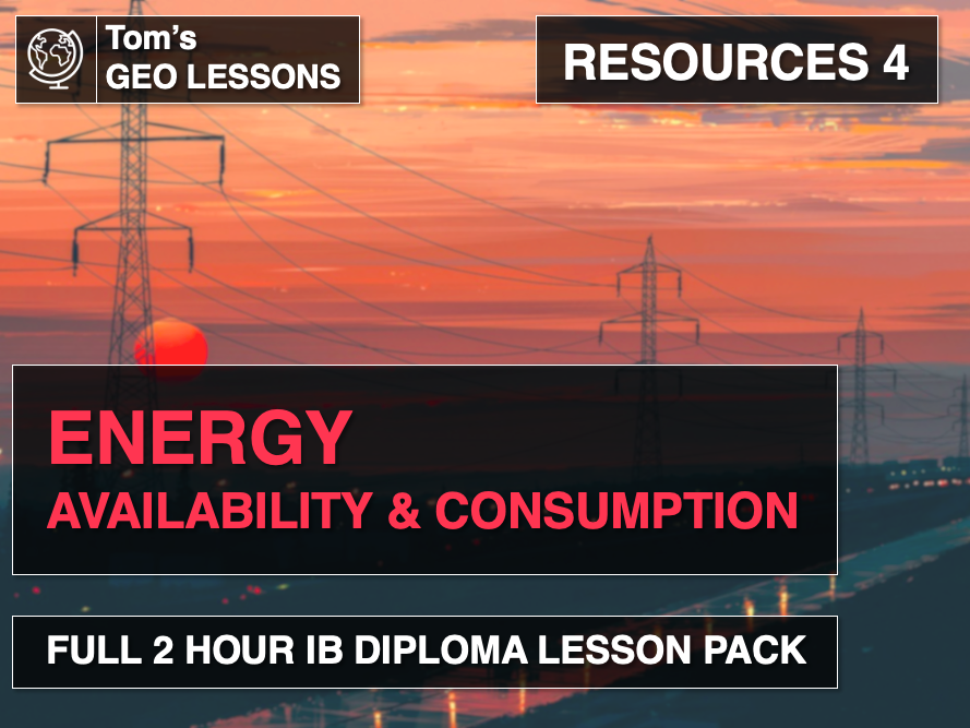 Resources 4 - Energy: Consumption & Availability